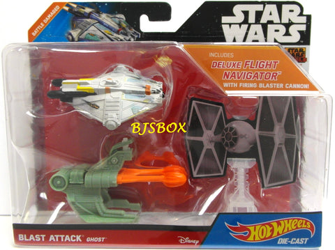 Hot Wheels Star Wars GHOST Blast Attack Battle Damaged Fighter New NIP
