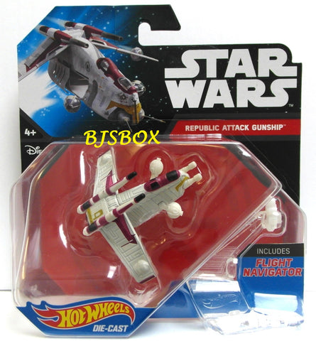 Hot Wheels Star Wars REPLUBIC ATTACK GUNSHIP Starship Fighter Disney New
