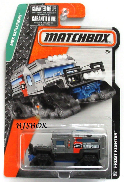 2016 Matchbox FROST FIGHTER #106/125 Gray, Glacier Transporter MBX Explorers New