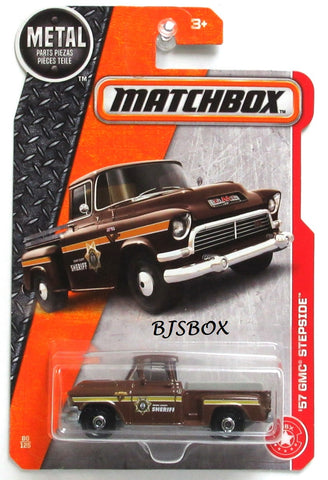2017 Matchbox '57 GMC STEPSIDE #80/125 Brown Sheriff Truck MBX Heroic Rescue Rare New