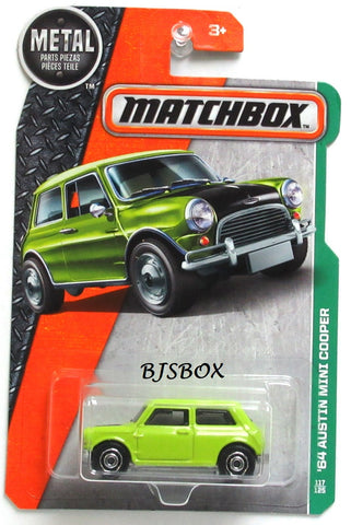 2017 Matchbox '64 AUSTIN MINI COOPER #117/125 Lime Green Chartreuse MBX Explorers Rare New