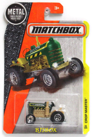 2017 Matchbox CROP MASTER Tractor #40/125 Green Vintage MBX Construction Rare New