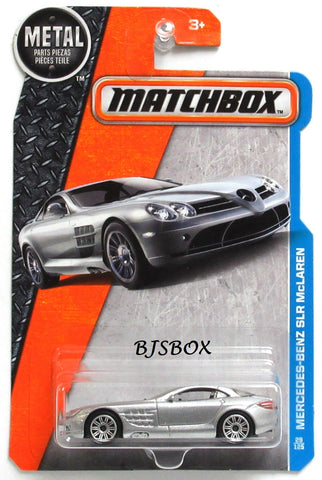 2017 Matchbox Metal Series MERCEDES-BENZ SLR McLAREN #29/125 Silver MBX Adventure City New