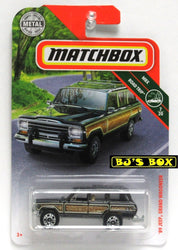 2019 Matchbox '89 JEEP GRAND WAGONEER #14 MBX Road Trip 7/20 Green Woody New