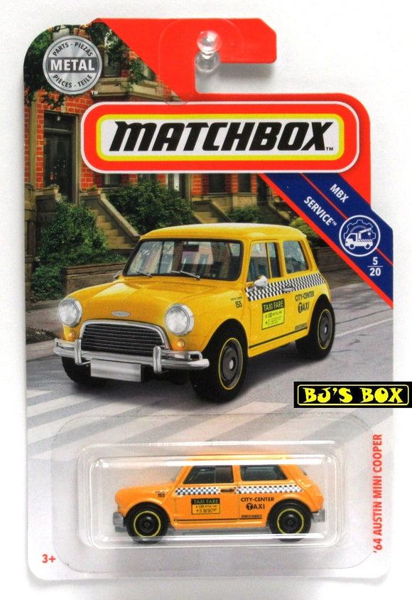 2019 Matchbox '64 AUSTIN MINI COOPER #96 Yellow Checker Cab 5/20 MBX Service New