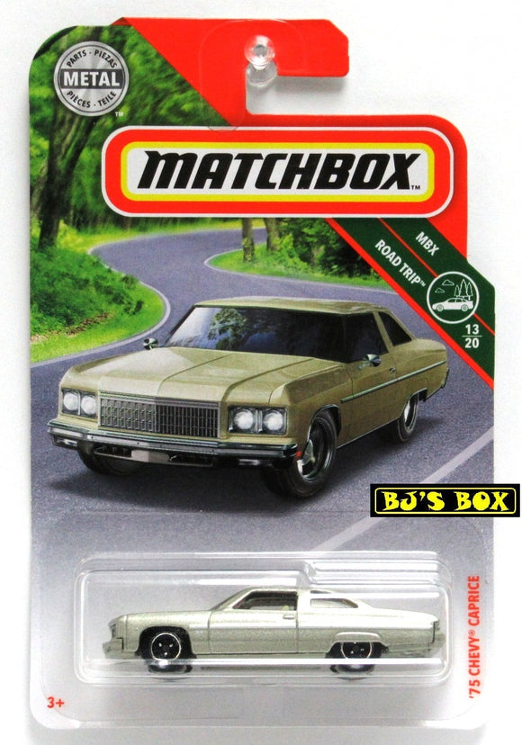 2019 Matchbox '75 CHEVY CAPRICE #6 Silvery/Gold 13/20 MBX Road Trip New