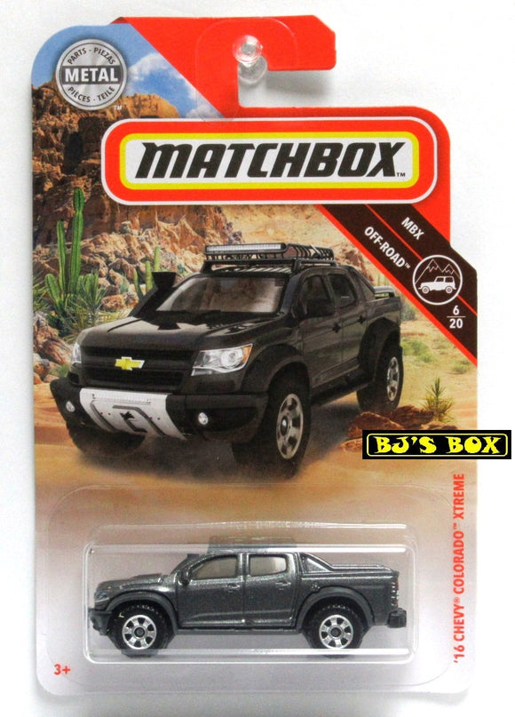 2019 Matchbox '16 CHEVY COLORADO XTREME #67 Dark Gray 6/20 MBX Off-Road New
