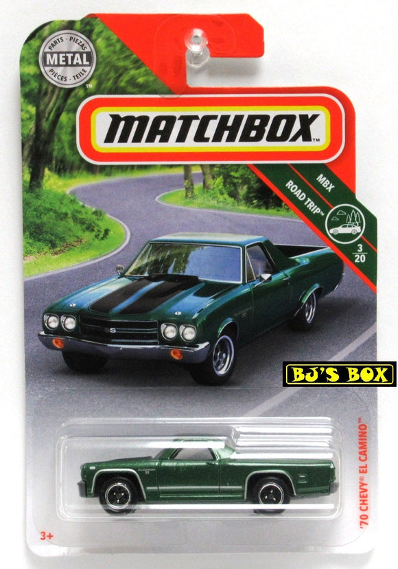 2019 Matchbox '70 CHEVY EL CAMINO #20/100 Green 3/20 MBX Road Trip New