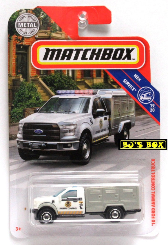 2019 Matchbox '10 FORD ANIMAL CONTROL TRUCK #81/100 White 19/20 MBX Service New
