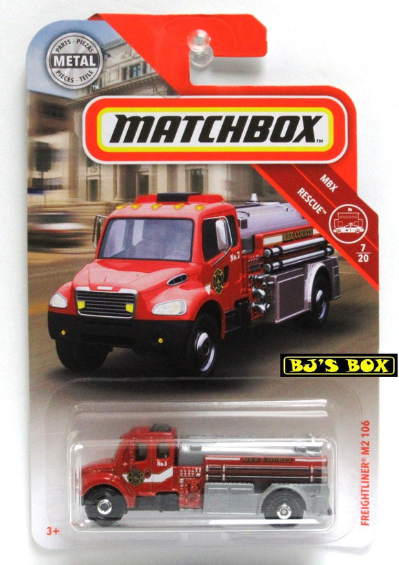 2019 Matchbox FREIGHTLINER M2 106 #48 Red/White Fire Truck 7/20 MBX Rescue New