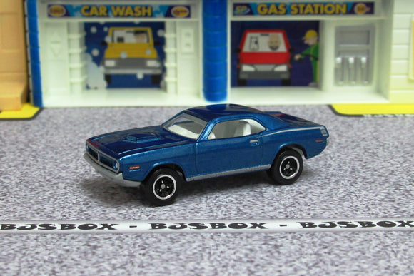 2019 Matchbox '70 PLYMOUTH CUDA Blue Shaker MBX Road Trip Blue Highway Loose New
