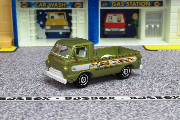 2019 Matchbox '66 DODGE A-100 PICKUP Camp Arrow Flint MBX Off-Road Loose New