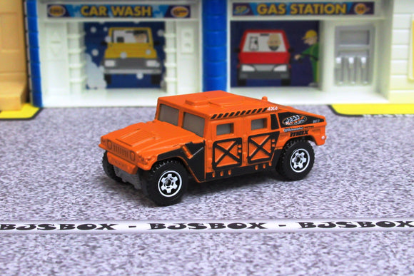 2019 Matchbox HUMVEE 4x4 Hummer Military Orange/Black MBX Off-Road Loose New