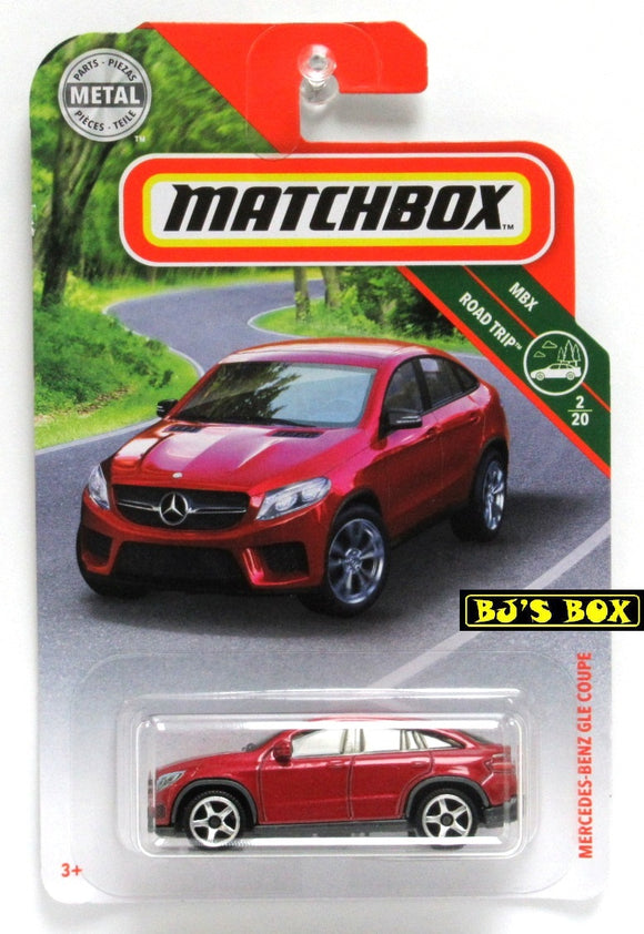 2019 Matchbox MERCEDES-BENZ GLE COUPE #10 Red 2/20 MBX Road Trip New