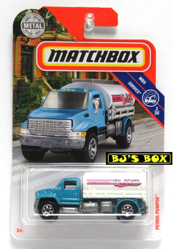 2019 Matchbox PETROL PUMPER #93 MBX Service 2/20 Farm Fresh Milk Tank Truck New