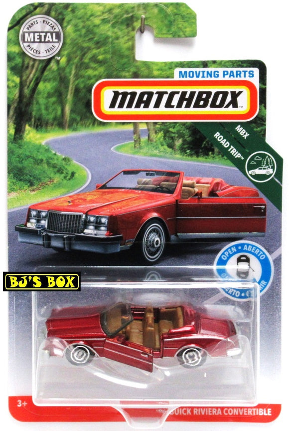 2019 Matchbox Moving Parts 83 BUICK RIVIERA CONVERTIBLE Red Doors Work New