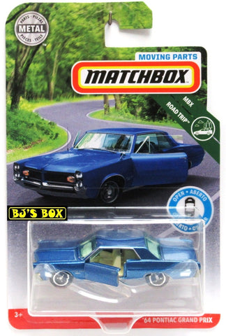 2019 Matchbox Moving Parts '64 PONTIAC GRAND PRIX Blue Classic Doors Work New