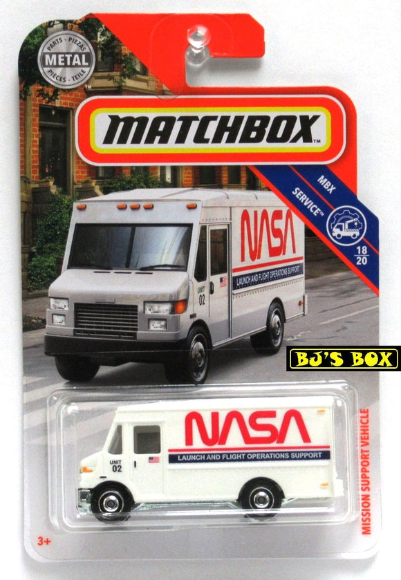 2019 Matchbox MISSION SUPPORT VEHICLE #88 White NASA Van 18/20 MBX Service New