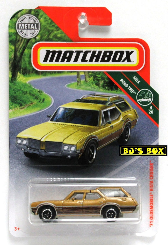 2019 Matchbox '71 OLDSMOBILE VISTA CRUISER #13 Gold 4/20 MBX Road Trip New