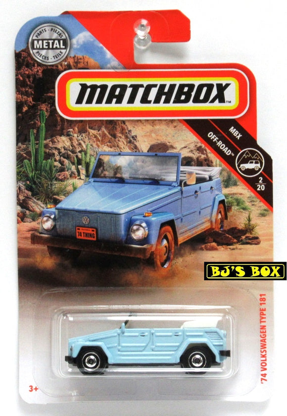 2019 Matchbox '74 VOLKSWAGEN TYPE 181 #75/100 Blue VW Thing 2/20 MBX Off-Road New