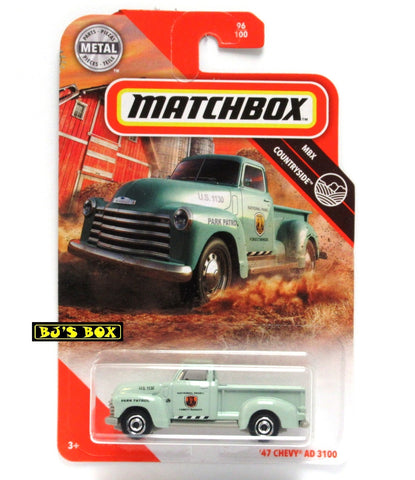 2020 Matchbox 47 CHEVY AD 3100 #96/100 MBX Countryside Park Ranger Pickup New