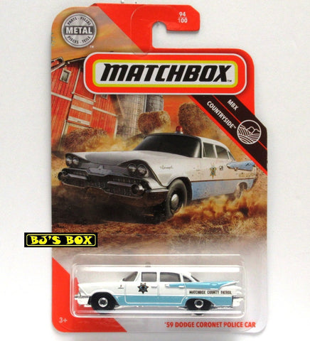 2020 Matchbox '59 DODGE CORONET POLICE CAR 94/100 Blue White MBX Countryside New