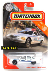 2020 Matchbox CHEVY CAPRICE CLASSIC POLICE White Blue NYPD 7/100 MBX City New