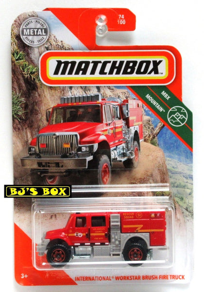 2020 Matchbox INTERNATIONAL WORKSTAR BRUSH FIRE TRUCK 74/100 MBX Mountain New
