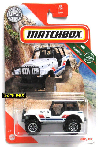 2020 Matchbox JEEP 4X4 CJ-7 Lifted Off-Road Vehicle #80/100 MBX Mountain New