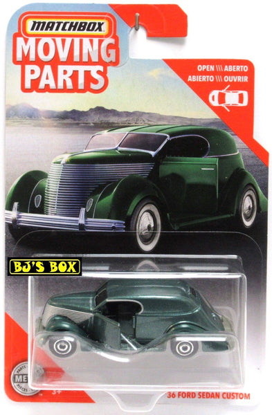 2020 Matchbox Moving Parts '36 FORD SEDAN CUSTOM Green Doors Opens New