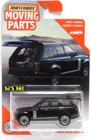 2020 Matchbox Moving Parts 2018 RANGE ROVER VOGUE SE Black SUV Hatch Works New