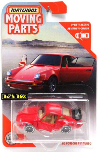 2020 Matchbox Moving Parts '80 PORSCHE 911 TURBO Red 1980 Doors Work New