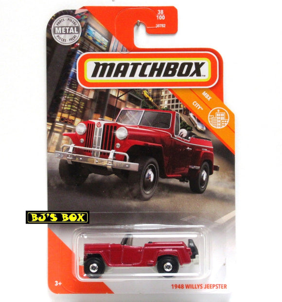 2020 Matchbox 1948 WILLYS JEEPSTER 38/100 Red Vintage 4x4 MBX City New