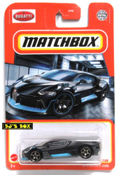 2021 Matchbox 2018 BUGATTI DIVO Matte Black Blue Trim Supercar #39/100 New