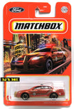 2021 Matchbox FORD POLICE INTERCEPTOR Red Taurus Fire Chief Car #81/100 New