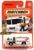 2021 Matchbox HAZARD SQUAD HazMat Response Fire Truck White Red #94/100 New