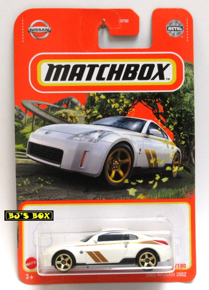 2021 Matchbox 2003 NISSAN 350Z White Gold Trim Sports Car #75/100 New