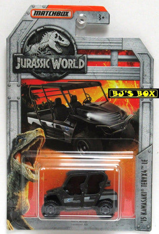 2018 Matchbox Jurassic World '15 KAWASAWKI TERYX4 LE #7/18 SideXSide 4x4 Black New