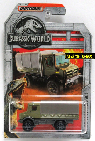 2018 Matchbox Jurassic World MERCEDES-BENZ UNIMOG U 5020 (#4 of 18) Green New