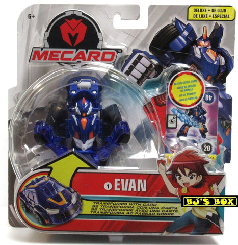 Mecard Deluxe EVAN Figure Mecanimal Mattel Transformer Robot Car #1 Toy New