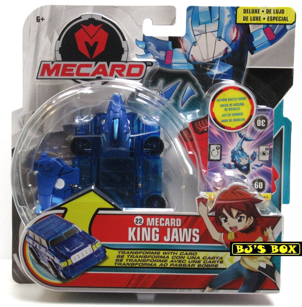 Mecard Deluxe KING JAWS Figure Mecanimal Mattel Transformer Robot Car #22 New