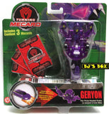 Turning Mecard GERYON The Three-Headed Snake Mattel Transformer Series 1 Toy Purple New