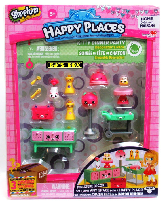 Shopkins Happy Places KITTY DINNER PARTY Home Collection Decorators Pack New