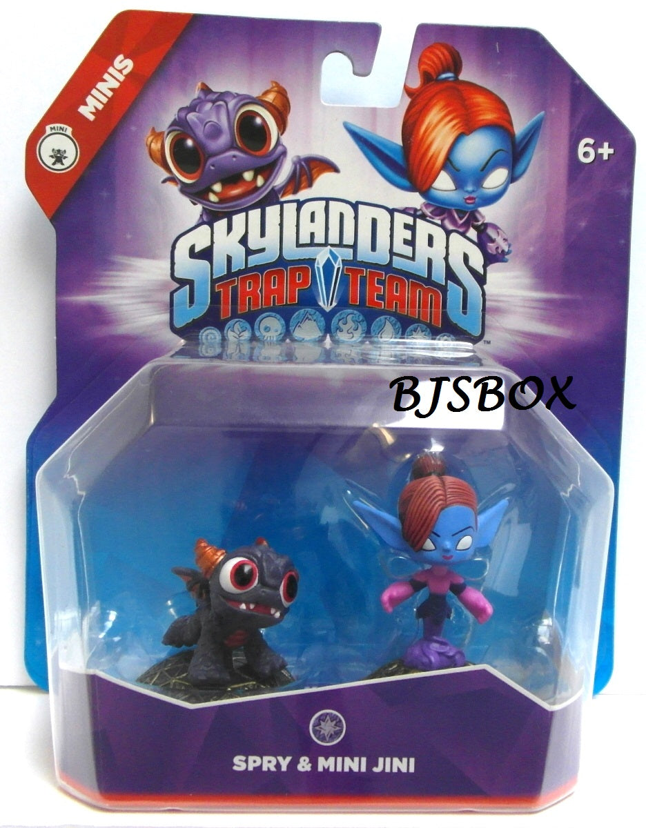 Skylanders Trap Team Minis SPRY & MINI JINI Activision Figures 2 Pack New