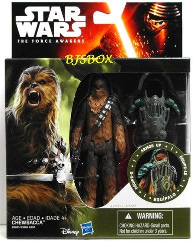 "Star Wars CHEWBACCA Armor Up 4.5"" Deluxe Figure Hasbro The Force Awakens New"