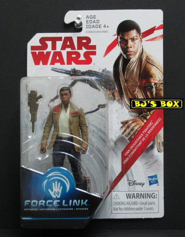Star Wars Force Link FINN (Resistance Fighter) Action Figure 3.75in New