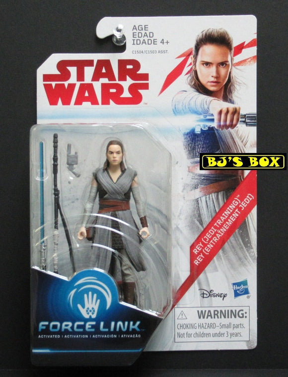 Star Wars Force Link REY (Jedi Training) Action Figure 3.75in New