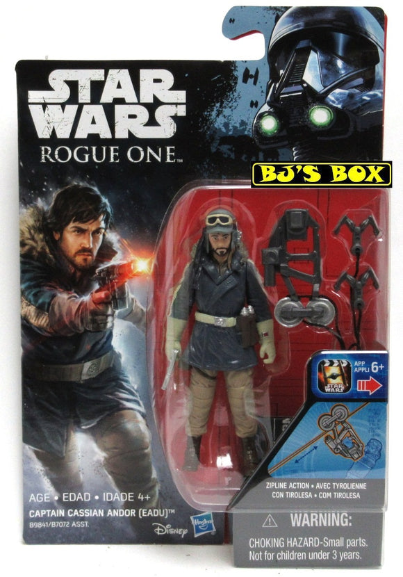 Star Wars Rogue One CAPTAIN CASSIAN ANDOR (EADU) Figure 3.75in New  Sealed
