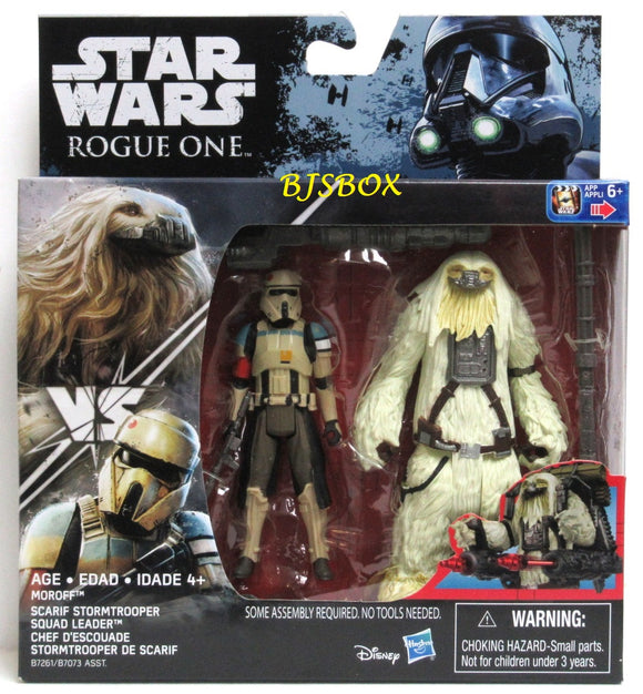 Star Wars Rogue One MOROFF vs SCARIF STORMTROOPER SQUAD LEADER 2 Pack New NIP