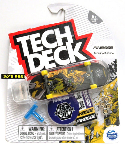 Tech Deck Skateboard FINESSE Series 14 Rare Bakugan Fingerboard & Acc. New